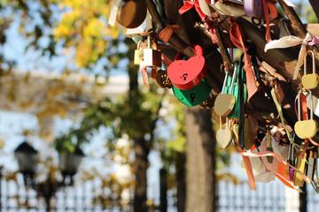 Wedding castles on the iron tree of love
