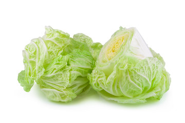 fresh chinese cabbage isolated on a white background Stack image