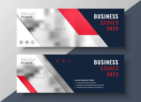 modern red theme business banner template