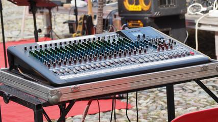 Audio sound mixer and amplifier equipment