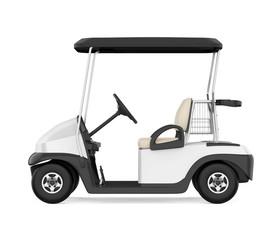 Golf Cart Isolated