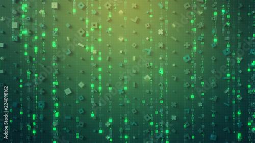 Symbols Of Digital Hex Computer Code 3d Rendering Stock Photo And