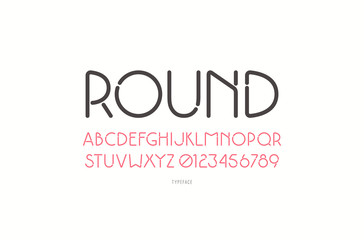 Decorative sans serif font with rounded corners