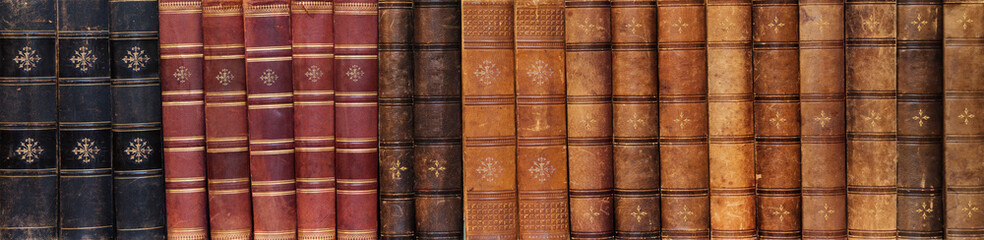 Row of ancient books