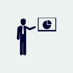presentation icon, vector illustration. flat icon