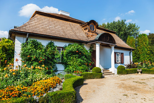 Old wooden manor house in Lublin, Poland