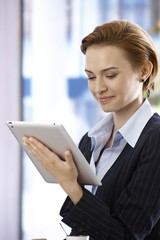 Using tablet computer