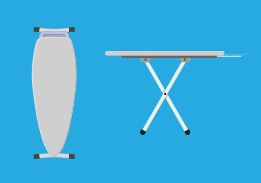 folded and unfolded ironing board Icon,