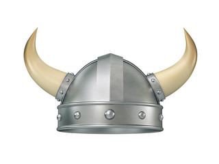 Viking helmet with horns, clipping path included