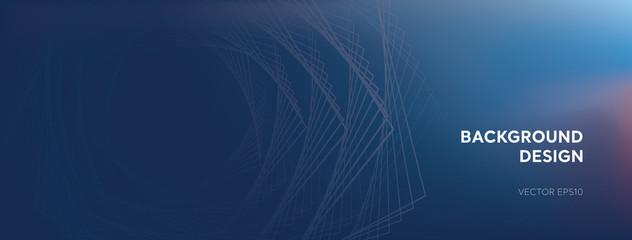 Modern abstract creative design blue banner background