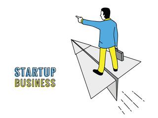 Businessman startup concept