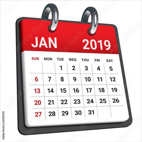 Calendar Illustration Search : Quot january monthly calendar vector illustration stock