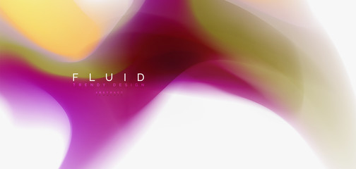 Mixing liquid color flow abstract background. Trendy abstract layout template for business or technology presentation, internet poster or web brochure cover, wallpaper