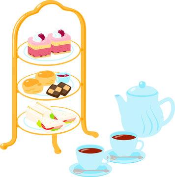 アフタヌーンティー 菓子と紅茶