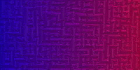 Abstract color background from lines. Futuristic labyrinth for design.