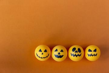 Halloween Jack o Lantern bucket on orange background