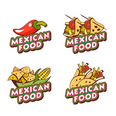 Mexican food. The emblem, the logo of Mexican cuisine. Vector illustration.