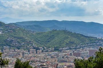 Salerno panorama and city at spring - 18 april