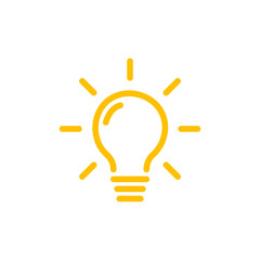Effective thinking concept solution bulb icon with innovation idea. Solution isolated symbol