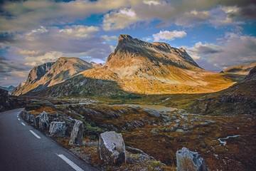 Wall Mural - High Mountain Norwegian Road