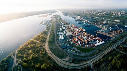 Aerial Panorama of Port of Klaipeda, Lithuania