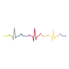EKG signal on white background.