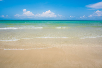 Sand beach and wave background