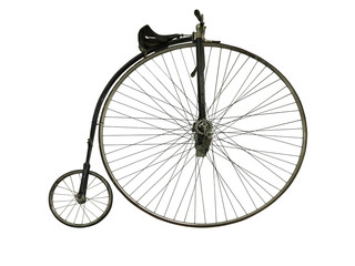 Photo sur Aluminium Vintage old retro bicycle isolated on white background