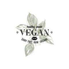 Vegan logo design
