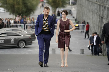 "Canadian actor Ryan Gosling and English actress Claire Foy arrive to a photo call to promote the feature film ""First Man"" at the San Sebastian Film Festival"