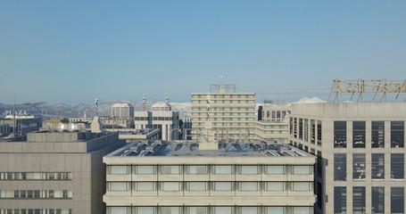 Aerial 3D City Render Over Skyscrapers - CG