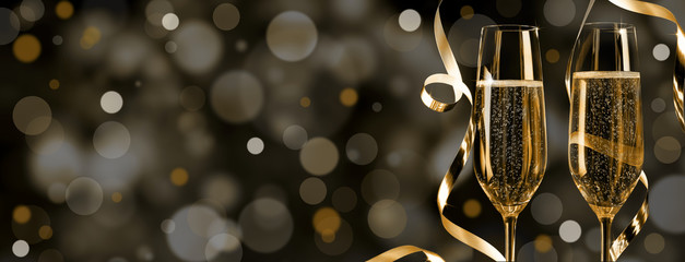 golden champagner silvester background 2019