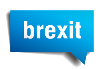 brexit blue 3d speech bubble