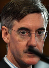 Leading Conservative Party Brexiter Jacob Rees-Mogg attends the presentation of a trade plan for a post-Brexit Britain, in London