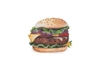 Big burger with beef