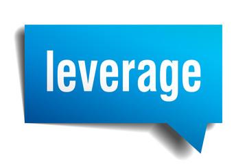 leverage blue 3d speech bubble