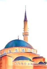 Muslim mosque illustration