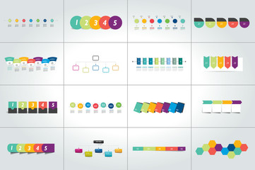 Mega set of timeline infographic templates, diagrams,  presentations.