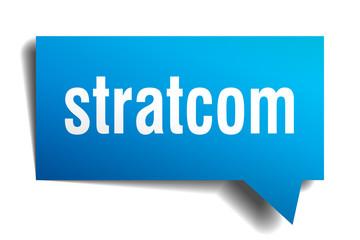 stratcom blue 3d speech bubble