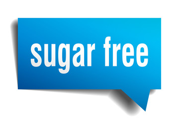 sugar free blue 3d speech bubble