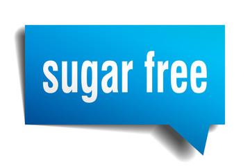 sugar free blue 3d speech bubble