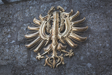 eagle crest of Tyrol in gold