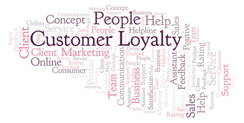 Customer Loyalty word cloud.