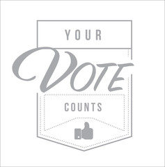 Your vote counts modern stamp message design