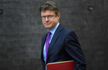 Britain's Secretary of State for Business Greg Clark arrives in Downing Street, London