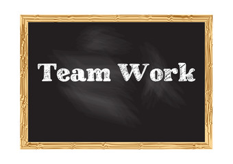 Team work blackboard notice Vector illustration for design