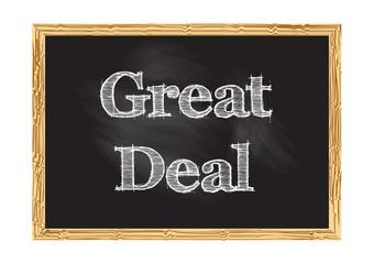 Great deal blackboard notice Vector illustration for design