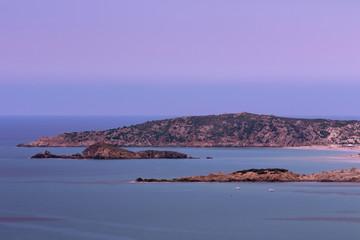 Coast Line Of Tuerredda At Sunset, Sardinia Italy