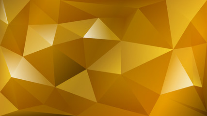 Abstract polygonal background of many triangles in yellow colors