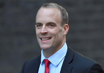 Britain's Secretary of State for Exiting the European Union Dominic Raab arrives in Downing Street, London